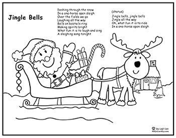jingle bells song santa sleigh coloring page lyrics