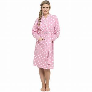 femmes pois gaufre peignoir 100 coton robe de chambre With robe de chambre 100 coton femme