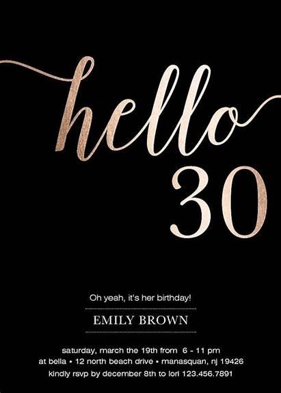 Birthday Invitations 40th Invitation Rose 30th Hello
