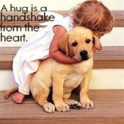 A hug is a handshake from the heart   Dogs   Pinterest