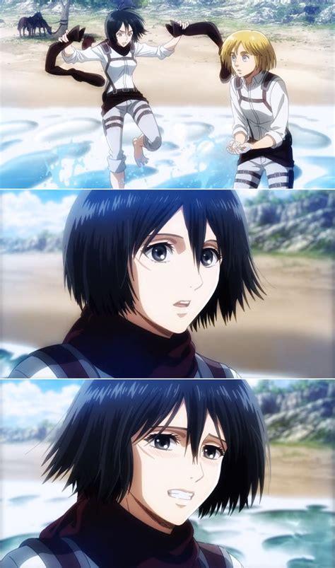 mikasa  armin attack  titan anime attack  titan