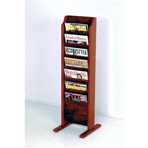 chaise mallet wooden mallet free standing 7 pocket magazine rack in