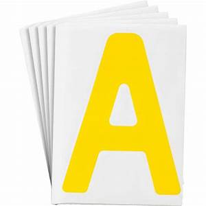 brady part 121696 toughstripe yellow number and letter With big yellow letters