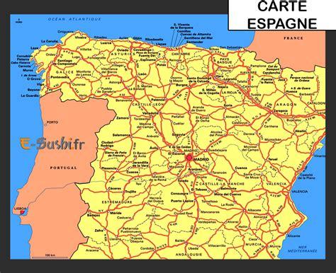 Carte D Espagne Avec Villes by Carte Espagne Voyages Arts Et Voyages