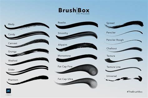 brush box  procreate  images brush