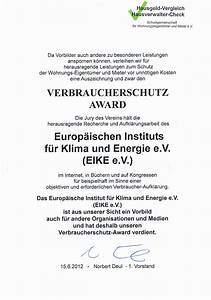 Was Ist Hausgeld : eike erh lt verbraucherschutz award 2012 eike ~ Lizthompson.info Haus und Dekorationen