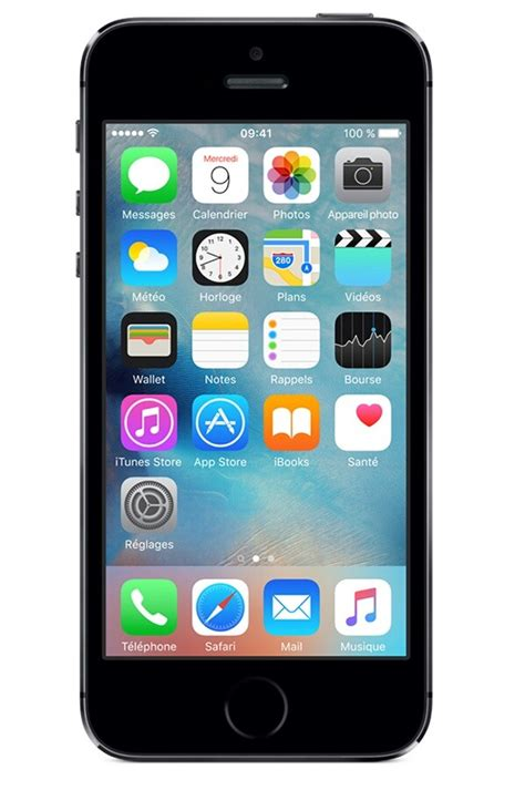 iphone apple iphone   gris sideral  darty