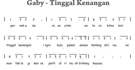 not angka lagu rayuan pulau kelapa not angka gaby tinggal kenangan not angka terbaru