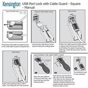 Kensington Usb Port Lock With Cable Guard