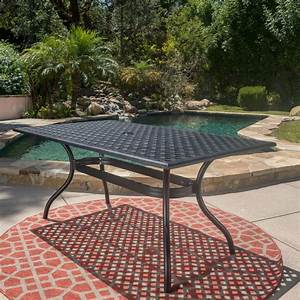 Noble, House, Cayman, Black, Sand, Rectangle, Aluminum, Outdoor, Dining, Table-296512