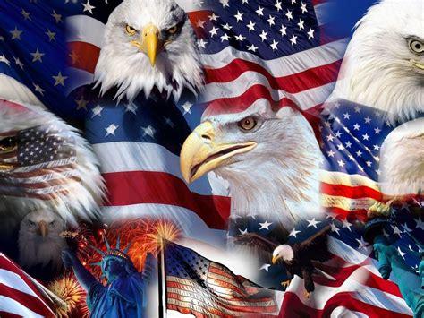 american symbols american flag statue  liberty bald