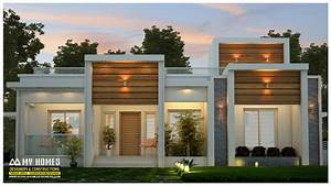 Lowest, Cost, 3, Bedroom, Contemporary, Budget, Home, In, Kerala, With, Plan