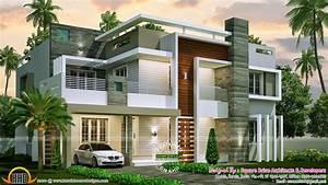 4 bedroom contemporary home design - Kerala home design