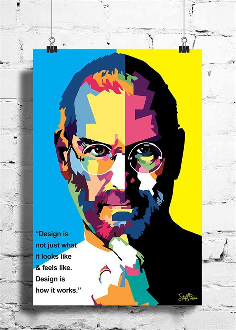 Cool Funky Apple Steve Jobs Quote Pixels Wall Posters, Art