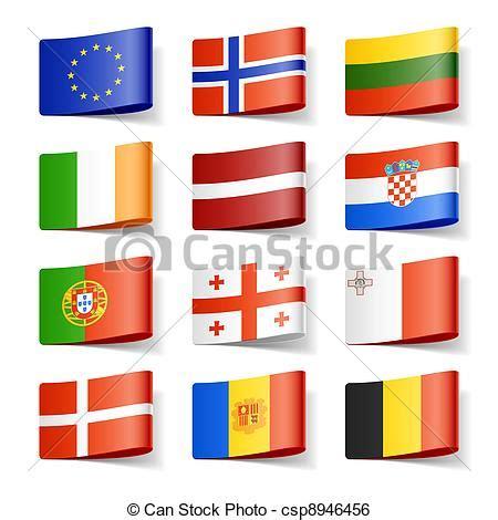 clipart bandiere clipart vettoriali di mondo bandiere europa vettore