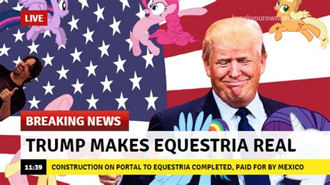 Breaking News Meme - brb getting us citizenship so i can vote for trump my little pony friendship is magic know