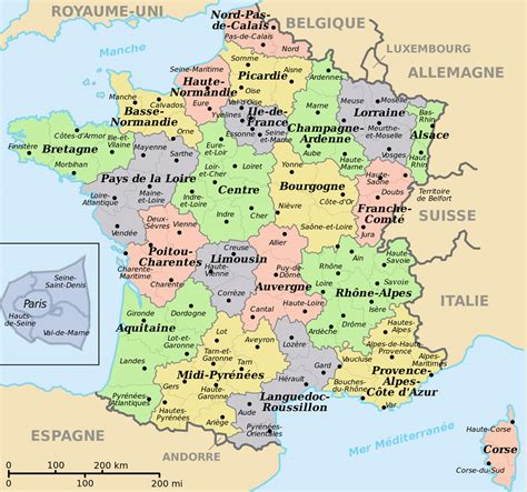 Carte De Et Region Et Departement by Info Carte De Region Et Departement Ville