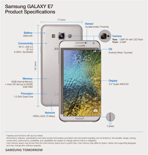 samsung galaxy e7 mobile phone full specifications and