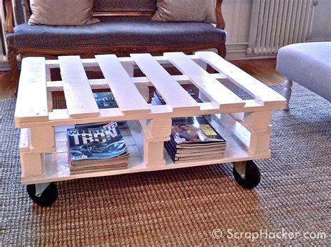 d i y pallet coffee table tutorial