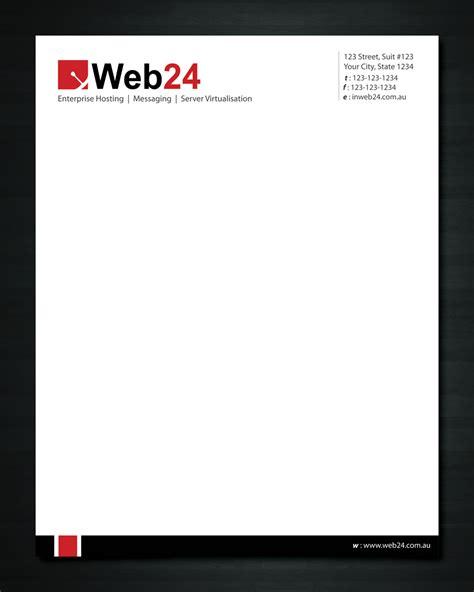 upmarket bold letterhead design  web group pty