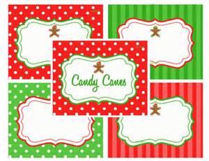 Free Christmas Printables Food Labels