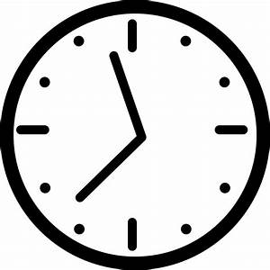 Round Wall Clock Svg Png Icon Free Download (#19513 ...