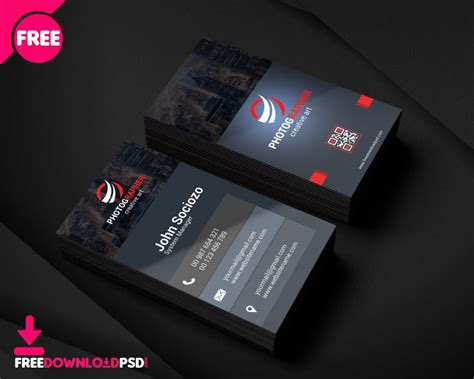 clean business card freedownloadpsdcom