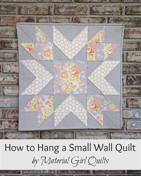 how to hang quilt on wall how to hang a small wall or mini quilt material quilts
