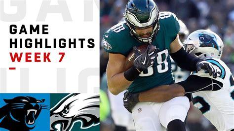 panthers  eagles week  highlights nfl  nfl