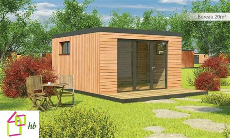 bureau de jardin en kit extension bois 20m2 lg96 jornalagora