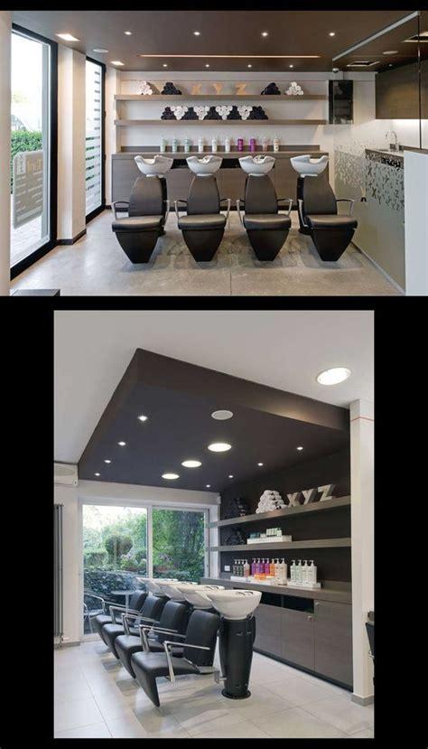 layered halo salon interior design salon interior
