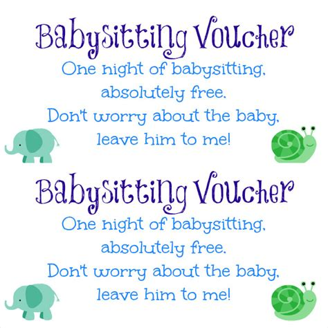 baby sitting coupon templates psd ai indesign