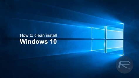 clean install windows    pc