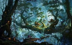 Enchanted Forest Wallpaper | Download Enchanted village on ...