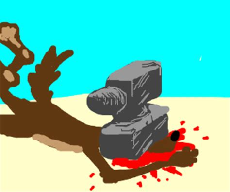 anvil falling  wile  coyote drawception