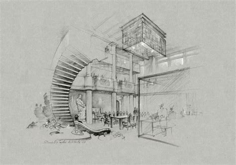 Gallery Architecture Pencil Drawing,  Drawings Art Gallery