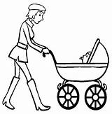 Stroller Coloring Wanderer Pages Template sketch template