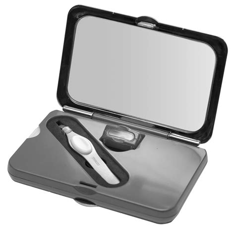 portable makeup mirror with lights simply beauty smart compact mirror with tweezers lighted