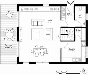plan maison a etage 150 m2 ooreka With plan maison rez de chaussee