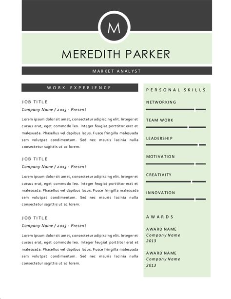 elegant    word resume  pages resume templates