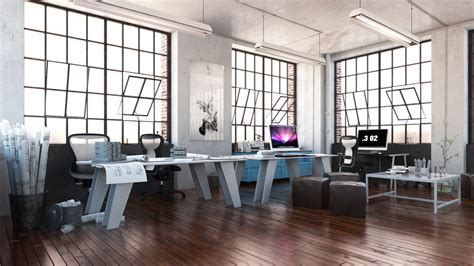 modern bureau of modern office space evermotion