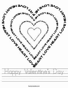 Happy Valentine's Day Worksheet - Twisty Noodle