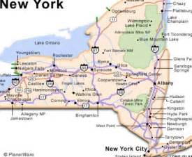New York State Map with Cities