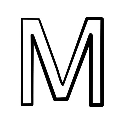 letter m black and white letter m clipart black and white clipartxtras