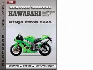 Kawasaki Ninja Zx6r 2003 Factory Service Repair Manual