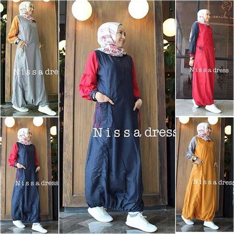 busana muslim terbaru nisa dress grosir baju muslim