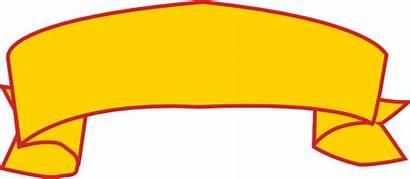 Banner Clipart Gold Clip Vector Cliparts Transparent