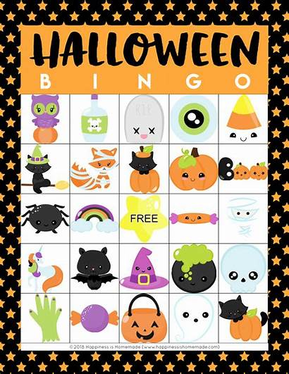 Bingo Halloween Printable Cards Games Ntable Happiness