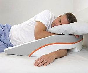 side sleep wedge pillow wedge pillow shoulder problem With bed wedge pillow with arms