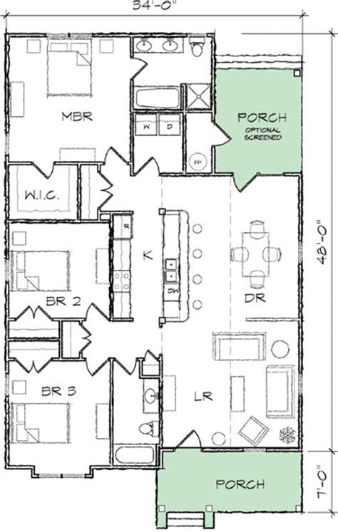 narrow lot bungalow house plan tt architectural designs house plans